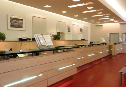 Вид бенковского помещения с оборудованием